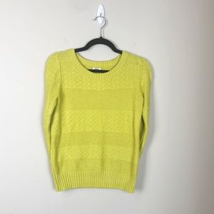 Flattering yellow Fossil sweater